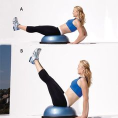 Get toned all over with this fast workout. A resistance band, bosu, and weighted vall are all you need for this workout. Yoga Fitness, Fitness Tips, Fitness Motivation, Cycling Motivation, Trainer Fitness, Fitness Gear, Health Fitness, Fast Workouts, Bike Workouts