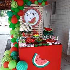 No photo description available. Watermelon Party Decorations, Watermelon Birthday Parties, Fruit Birthday, First Birthday Party Themes, Summer Birthday, Baby Birthday, Baby Shower Watermelon, 1st Birthdays, Instagram