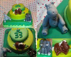 Bolo Elefante, Cavalinho e Rinocerante