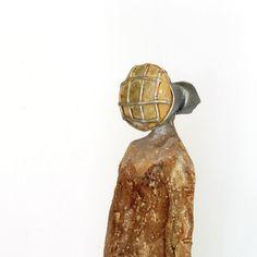 lamplighter Ceramic Sculpture Unique Ceramic Figurine by arekszwed