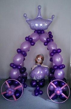 Balloon decoration and balloon delivery for all occasions. Princess Sofia Birthday, Sofia The First Birthday Party, Pink And Gold Birthday Party, 3rd Birthday Parties, Birthday Party Decorations, Party Themes, Birthday Ideas, Happy Birthday, Party Ideas