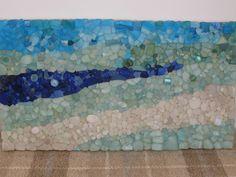 sea glass mosaic - layers of blues - beautiful!