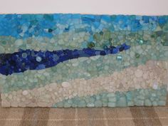 sea glass mosaic - layers of blues - beautiful!