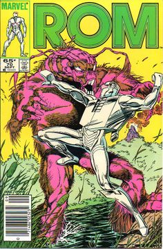 ROM, Spaceknight #70. Pencils by Jackson Guice and inks by Jerry Ordway.