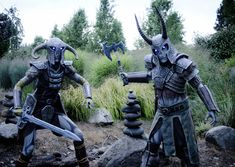 Stunning walk-through of creating these two Skyrim Draugr costumes, from start to finish. So inspiring - the armor is all made of foam!