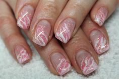 Pink and white marble