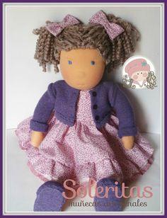 Soleritas Muñecas Artesanales: Julieta,muñecas Waldorf