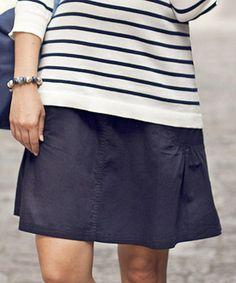 Look what I found on #zulily! Navy Twill Over-Belly Maternity Skirt by JoJo Maman Bébé #zulilyfinds $32.99, regular 64.00