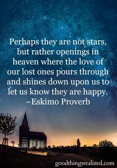 Perhaps they are not stars, but opening in heaven...