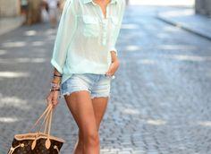 short + blouse
