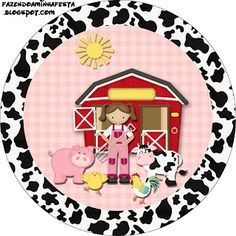 Little farm girl - Full Kit with frames for invitations, labels for goodies, souvenirs and pictures! Farm Animal Birthday, Tractor Birthday, Farm Birthday, Frame Rosa, Western Theme, Farm Party, Farm Theme, Crafts, Tags