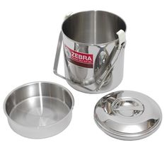 Zebra Stainless Steel Billy Can