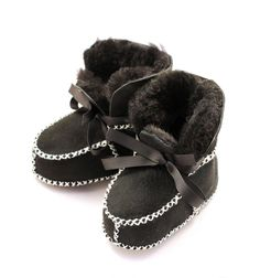 Shearling Boots Black