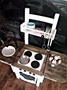 Amazing DIY Play Kitchen For Your Kids | Shelterness