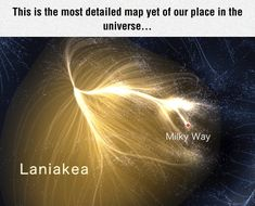 "Map of the supercluster that our galaxy belongs in. The name means ""immense heavens"" in Hawaiian."