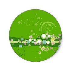 Keeping it Green Round Sticker
