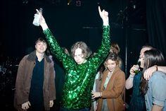 Harrison Koisser in green sparkles