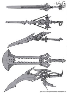 craft into foam sword. Anime Weapons, Sci Fi Weapons, Weapon Concept Art, Fantasy Weapons, Arma Steampunk, Cool Swords, Sword Design, Knives And Swords, Sword Art Online