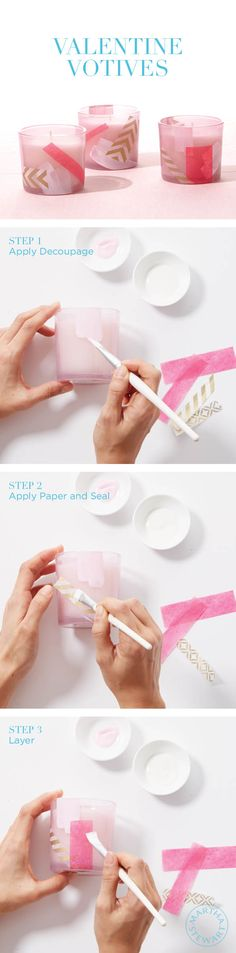 Personalize tea light holders with paint for Valentine's gifts or ambiance. So easy to make!