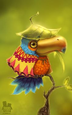 B-Bird! by 2 Minds Studio , via Behance