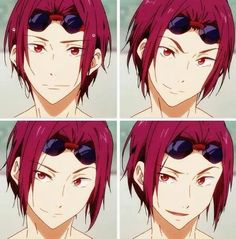 Free! ES ~~ Rin smiles so much more in the second season than he did in the first one. ♥