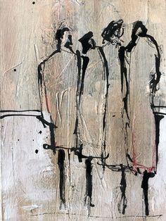 Figur Zeichnung Abstrakt - Lynne Seawell's World Figure Painting, Figure Drawing, Painting & Drawing, People Art, Art Techniques, Figurative Art, Art Inspo, Art Projects, Art Drawings
