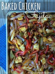 Low Carb Chicken Recipes: Baked Chicken Fajitas #advocare #24daychallange