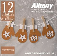 Cosy Mitten from Albany Paint.  www.albanypaint.co.uk