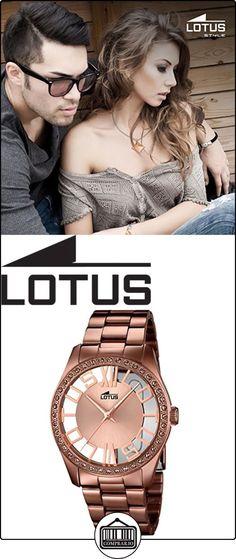 LOTUS 18129/1 - Reloj de señora colección Trendy, cadena y caja de acero chapado en marron  ✿ Relojes para mujer - (Gama media/alta) ✿