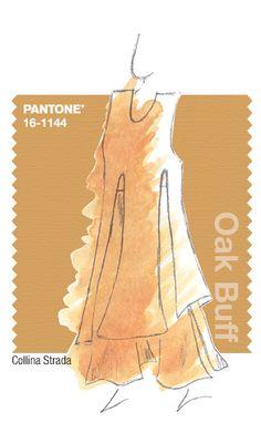 Collina Strada in Pantone Oak Buff - FALL 2015 PANTONE's FashionColorReport