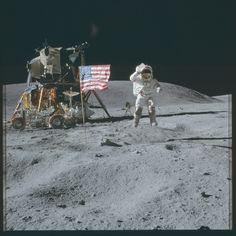 https://flic.kr/p/y3dYXj | AS16-113-18339 | Apollo 16 Hasselblad image from film magazine 113/A - Orbit & Post-Ldg