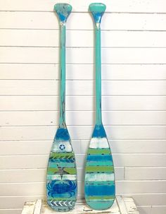 Canoe Oar Paddle Sign ONE Hand Painted Wall Art by CastawaysHall