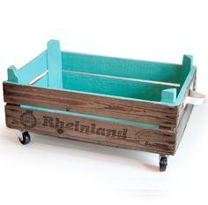 Kratten & boxen - Opbergbox Turquoise - Een uniek product van I-am-Recycled op DaWanda