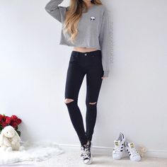 Korean Fashion – How to Dress up Korean Style – Designer Fashion Tips Teenager Outfits, Outfits For Teens, Trendy Outfits, Fall Outfits, Teen Fashion, Korean Fashion, Fashion Outfits, Womens Fashion, Fashion Shoes
