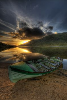 """Lough Na Fooey Sunrise"" by Gerry Chaney, via Flickr. Lough Na Fooey (meaning Lake of the Winnowing Winds) is a glacial lake in County Galway, and bordering on County Mayo, Ireland. [Please keep photo credit and original link if reusing or repinning. Thanks!]"