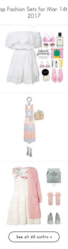"""""""Top Fashion Sets for Mar 14th, 2017"""" by polyvore ❤ liked on Polyvore featuring LoveShackFancy, Sunnylife, Linda Farrow, J.Crew, SUGARFIX by BaubleBar, Clinique, Bobbi Brown Cosmetics, Havaianas, Mara Hoffman and Accessorize"""