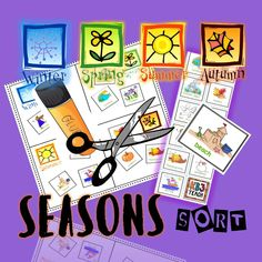 Seasons and weather sorting activities. Identify objects, weather, and activities by season. Cut and paste graphics into appropriate seasons boxes (winter, spring, summer, autumn). Activities include differentiated sorting levels, writing/drawing graphic organizers and leveled essay forms. Use as an initial assessment tool, or use for homework review. No prep, just print what you need, and then supply the scissors and glue. The kids will do the rest! Learning is FUN!