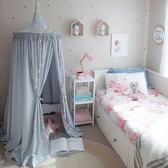 Freddie & Ava grey nursery canopy / Neutral nursery theme / grey styling / cute kids room corner nook / nursery decor inspiration
