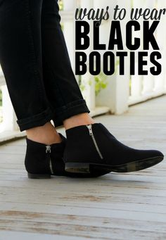 How to wear little black booties for fall! #SoleStyle #Payless