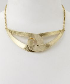Take a look at this Gold Interlock Pendant Necklace by Denis & Charles on #zulily today!