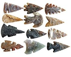 Buy Arrowhead Lot, 12 pcs perfect for DIY stone wire wrapping necklace pendant by Askii Native American Tools, Native American Artifacts, Native American History, Native American Indians, Flint Knapping, Indian Agate, Primitive Survival, Indian Artifacts, Ancient Art