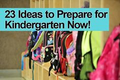 Tips on how to get your kids ready for Kindergarten.