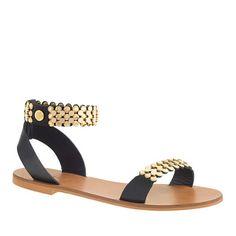 J.Crew - Metal link ankle-strap sandals