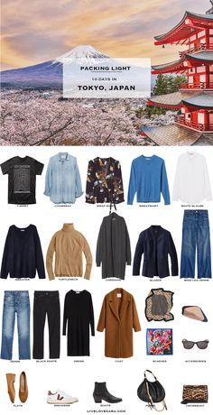 Packing Light: 10 days in Tokyo, Japan in Spring. What to pack. Travel Capsule Wardrobe 2019 Source by thetannehillhomestead clothing japan Spring Outfits Japan, Japan Outfits, Travel Outfit Spring, Winter Outfits, Spring Vacation, Japan Spring Fashion, Japan Outfit Winter, Tokyo Japan Fashion, Japan Ootd