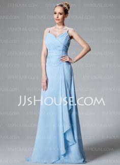 Bridesmaid Dresses - $109.99 - A-Line/Princess V-neck Floor-Length Chiffon Bridesmaid Dresses With Ruffle (007001116) http://jjshouse.com/A-line-Princess-V-neck-Floor-length-Chiffon-Bridesmaid-Dresses-With-Ruffle-007001116-g1116