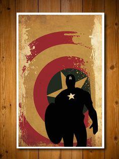 Retro Avengers Movie Poster -  Captain America. via Etsy.