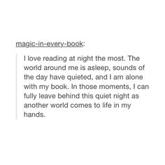 Maybe this is why I can only read Fitzgerald and Thomas Wolfe at night Fangirl Book, Book Fandoms, Book Nerd, I Love Books, Good Books, Books To Read, Quotes For Book Lovers, Book Quotes, Book Annotation