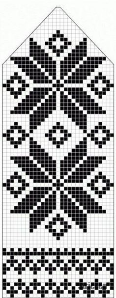 northern star / snowflake motif ~~ knitted mitten pattern ~~ also filet crochet cross stitch Knitting Charts, Knitting Stitches, Knitting Designs, Knitting Projects, Knitting Patterns, Knitting Tutorials, Loom Knitting, Free Knitting, Fair Isle Knitting