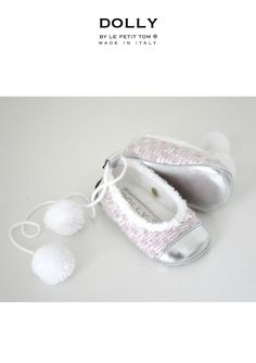 LA DOLLY by Le Petit Tom ® TWEED POM POM PLUSH BALLERINA'S light pink/ | Le Petit Tom ® Baby Ballet Shoes, Girls Ballet Flats, Baby Girl Shoes, Italian Baby, Exclusive Shoes, Espadrille Shoes, Baby Moccasins, Leather Booties, Baby Booties