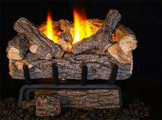 Gas Logs :: Real Fyre :: Vent Free Gas Logs :: 16'' :: Real Fyre 16'' Valley Oak Vent Free Log Set - 9500 BTU - VOG8E-16R